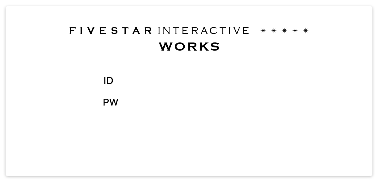 FIVESTAR INTERACTIVE WORKS * * * * *